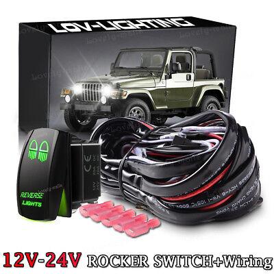 Toggle Rocker Laser Switch Green LED BACKUP LIGHTS ON//OFF 12V 5 pin for SUV ATV