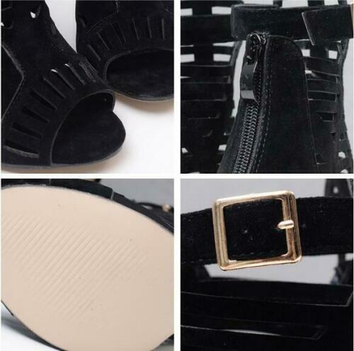 Womens Rome Ankle Strap Stilettos Open Toe Pumps High Heels Party Club Sandals 1
