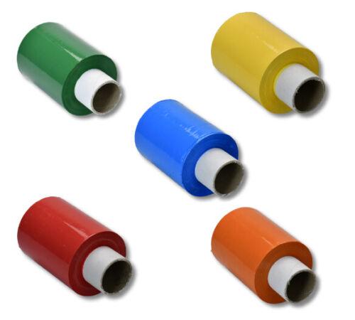 EUR 0,02 // m 5 verschiedene Farben 5 Rollen Mini Stretchfolie 100mm x 150m