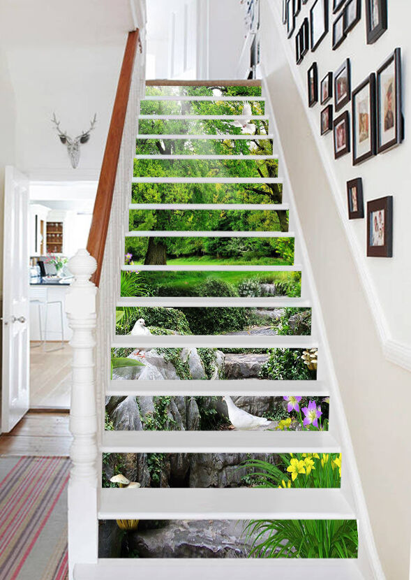 3D Nature Forest 9421 Risers Decoration Photo Mural Vinyl Decal Wallpaper CA