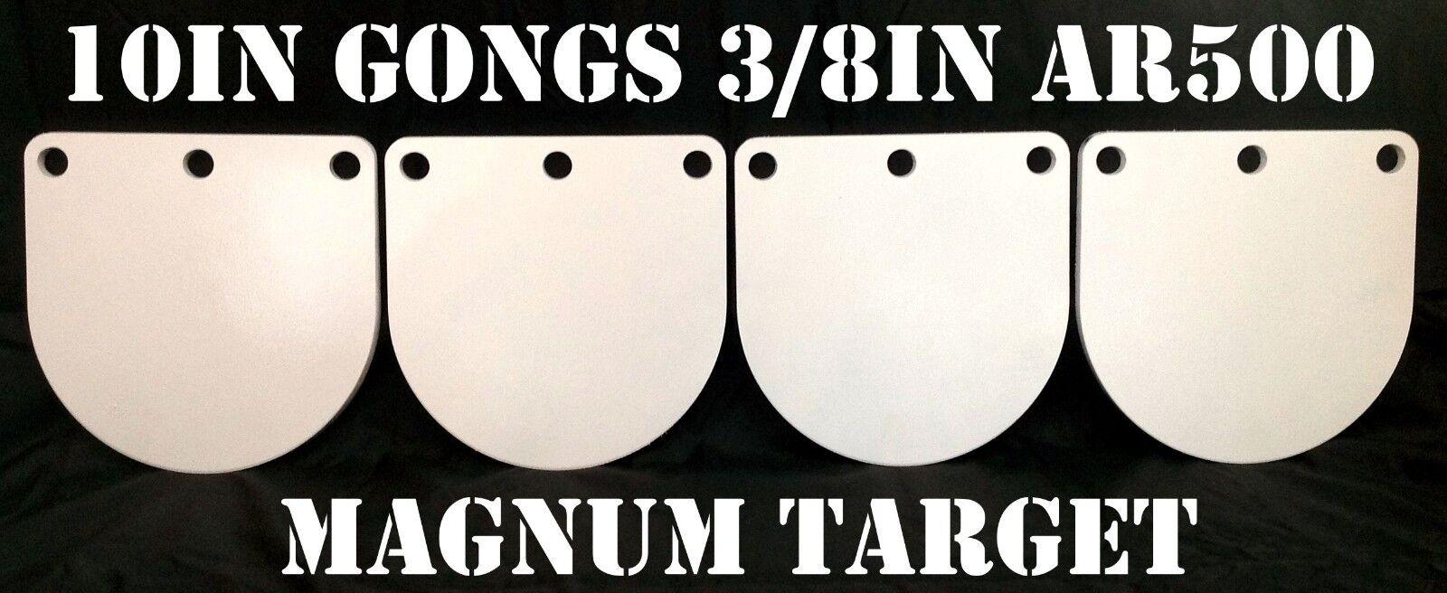10 in (approx. 25.40 cm) 3 8  AR500 de acero endurecido Metal gongs-campo de tiro objetivos de pistola NRA
