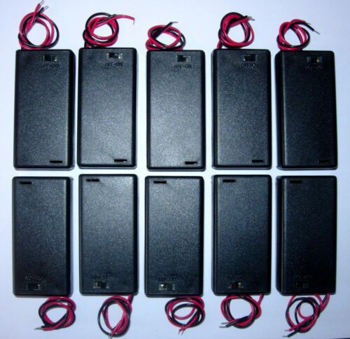 hard case- with switch cell Battery holder for 2 X /'AA/' UM-3 pack of 10