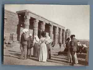 Egypte-Touristes-au-Temple-de-Louxor-Vintage-citrate-print-Vintage-Egypt