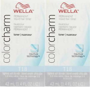 Wella Colorcharm Permanent Hair Toner - T18 Lightest Ash Blonde
