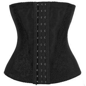 c20ea696b0 Women Steel Boned Waist Trainer Corset Body Shaper Tummy Control ...