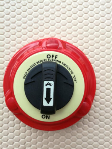 Boat Yacht RV Fishing Semi Red Dual Battery Isolator Selector Switch ON OFF 0639
