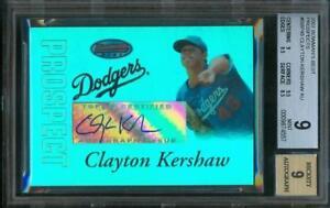 2007-Bowman-039-s-Best-Prospect-CLAYTON-KERSHAW-Auto-Dodgers-bbp45-BGS-9