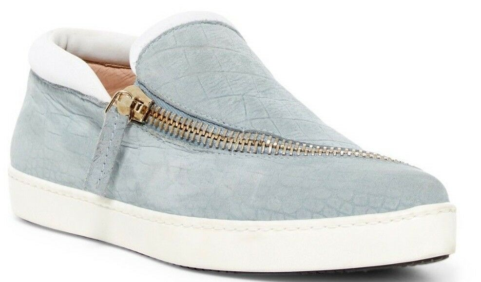 375 Furla Women's Spy Zip Sneaker shoes Leather Light bluee Size 36 US 5.5