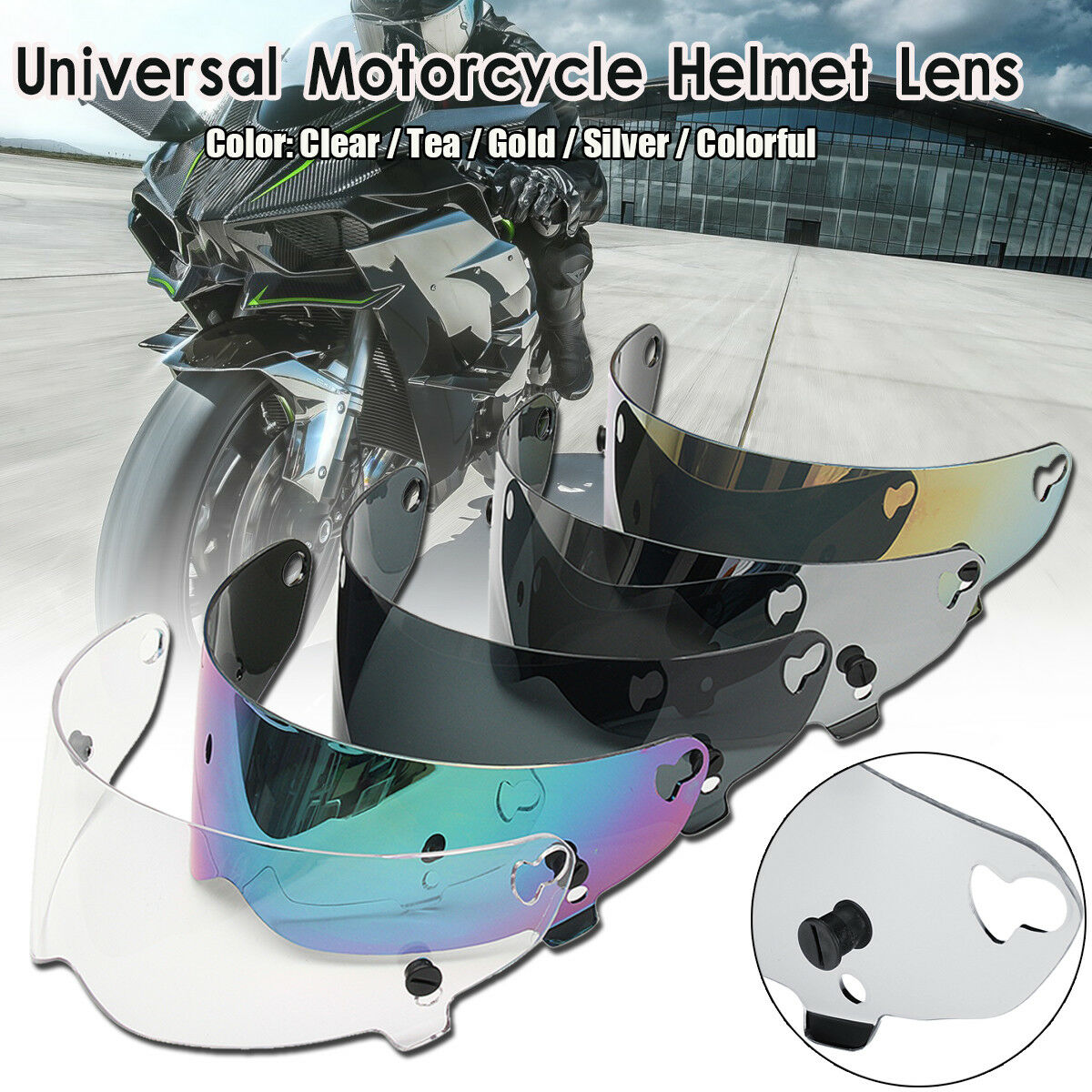 T14 T14B Mako Full Face Replacement Motorcycle Bike Helmet Clear Shield Visor