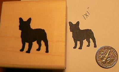 French Bulldog Dog Rubber Stamp with Heart Shaped Thought Balloon J18602 WM
