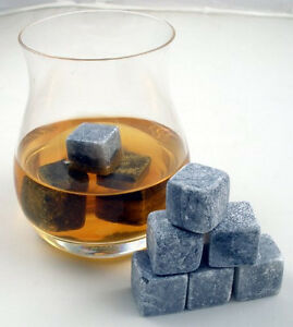 1-9-pc-Gray-Whisky-Stones-Chilling-Cooling-Cold-Cool-Wine-Rocks-Ice-Cubes-Pouch