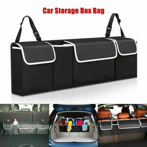 Car Trunk Organizer Oxford Interior Accessories Back Seat Storage Bag 4 Pockets