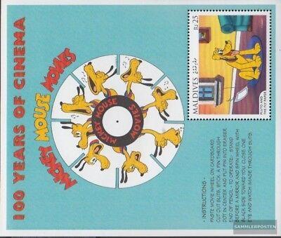 Postfrisch 1996 Walt-disney-figuren Ein GefüHl Der Leichtigkeit Und Energie Erzeugen Hell Malediven Block375 kompl.ausg.