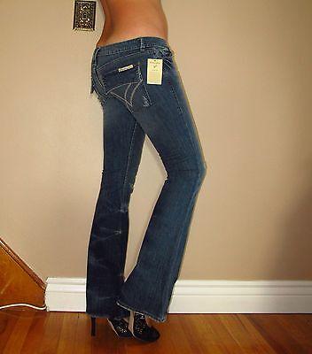 $209 William Rast Belle Flare Flap Tasca Invecchiato Medio Jeans Vintage 27