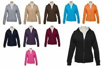 LADIES ZIP UP, FLEECE, MID-WEIGHT HOODIE, FULLY THERMAL LINED, XS S M L XL 2X