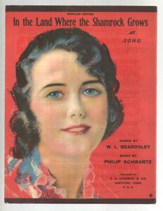 Dans Les Terres Où Le Trèfle Pousse 1919 Pretty Girl Vintage Sheet Music Q21-afficher Le Titre D'origine Soulager La Chaleur Et La Soif.
