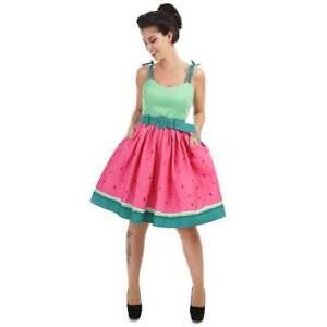 vintage vintage anguria 8 Abito di 1950 trapezio gambi Sz 22s Pink a con Fun Green 4xt0z0qwd