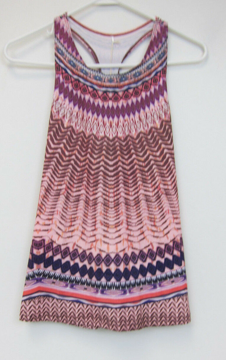 PrAna Boost Printed Top - Womens XL - purple Sol - NWT