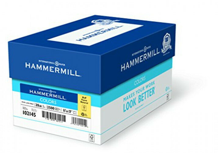 Hammermill Paper colors Buff 20x17 Ledger 2500 Sheets