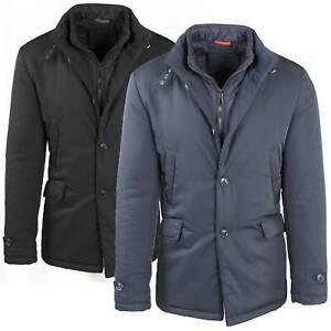 Giubbotto-Uomo-Invernale-Giaccone-Elegante-Giubbino-Sartoriale-Blu-Nero-Cappotto