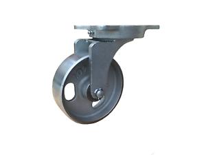 Lenkrolle 150x50 Industrie Schwerlastrolle Metallrolle Guss Transportrolle 650kg