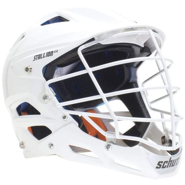 New Schutt Stallion 100 Youth Lacrosse Helmet White Size XS Hat Size 6  - 6.5