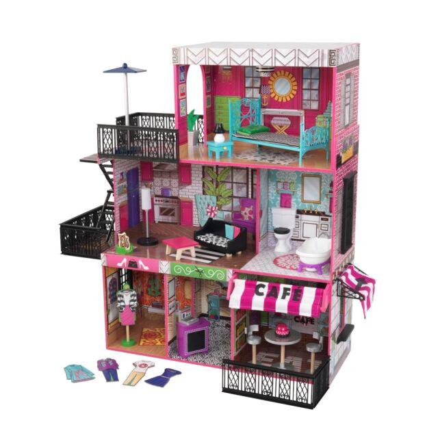 "Brooklyn's Loft Dollhouse by Kidkraft  ideal for dolls ""30cm"" like Barbie dolls"