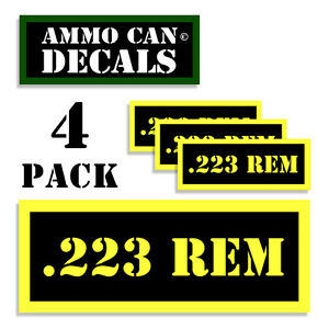 Hunting 357 MAG Ammo Can Label 4x Ammunition Case stickers decals 4 pack YW MINI 1.5in