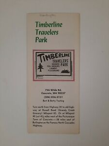 TIMBERLINE travelers Park Concrete WA vintage TOURIST