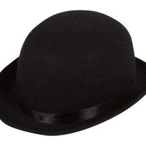 fa8cac97916 Image is loading Old-England-Victorian-Bowler-Hat-Black-Adults-Fancy-