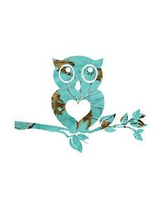 """Owl teal blue Sticker for Cars Trucks Laptops ipad Locker Bumper Decal 5.5/"""" tall"""