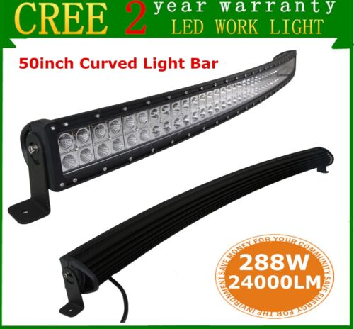 50inch 288W Curved LED Work Light Bar COMBO Offroad Truck 4WD ATV 12V 24V 48//52