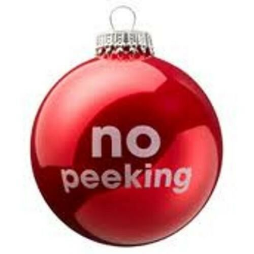 Red Christmas Tree Bauble No Peeking