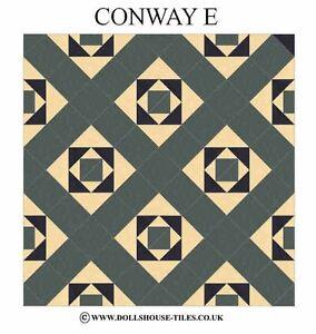DOLLHOUSE MINIATURES, DOLLHOUSE TILES.& FLOORING. CONWAY ( E ) FLOOR TILES