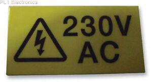 Pro-Power-7827636-Etichetta-230VAC-Card-of-10-PREZZI-PER-1-carta