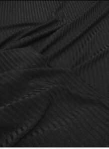 bb7b1abbc77 Black RIBBED Jersey Stretch 4 Way Stretch Dance Clothing Fabric ...