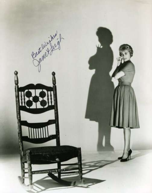 JANET LEIGH PSA DNA Cert Hand Signed 8X10 Photo Autograph Authenticated