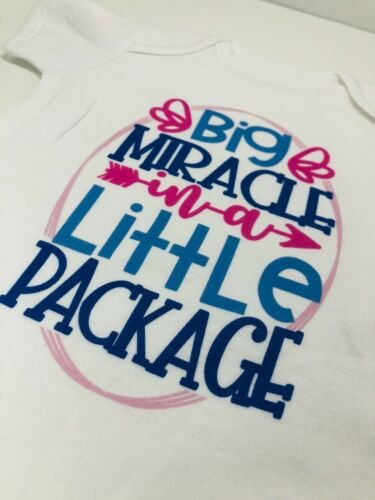 Big Miracle in a Little Baby BodysuitBaby Shower GiftCute Baby ClothesF