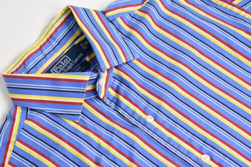 Polo Ralph Lauren Blue w/ Red/Yellow Striped Point