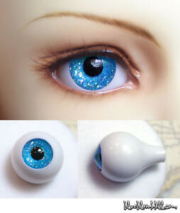 1//3 1//4 bjd 16mm acrylic doll eyes metallic peacock blue full eyeball dollfie