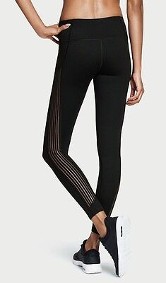 NWT VICTORIA/'S SECRET SPORT VSX BLACK MESH SHEER KNOCKOUT TIGHT YOGA LEGGINGS