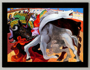 Pablo-Picasso-death-torero-canvas-print-framed-giclee-6-8X8-8-amp-10X13-6-poster