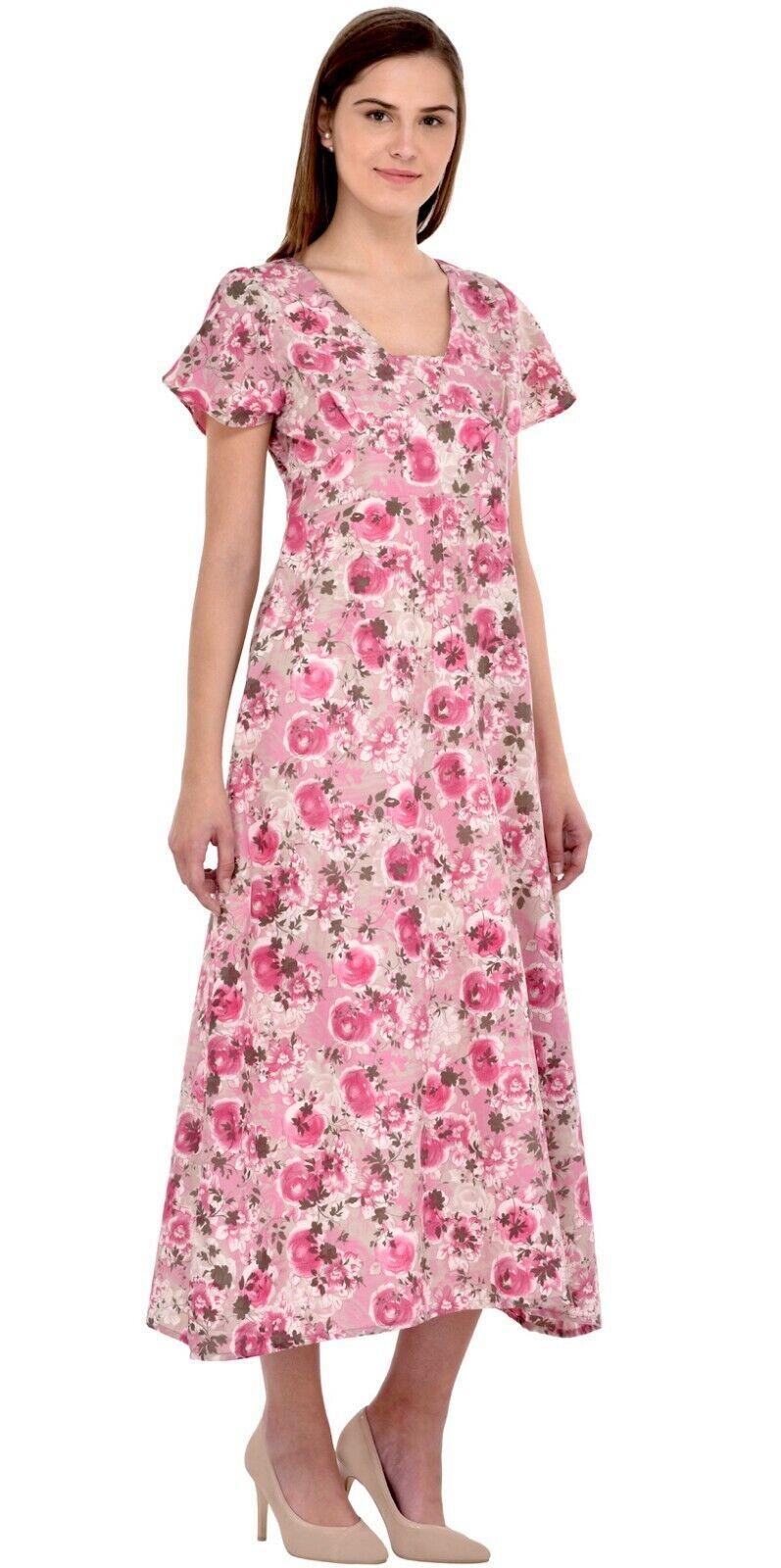 Short Sleeve Printed Pure Cotton Dress   Cotton Lane