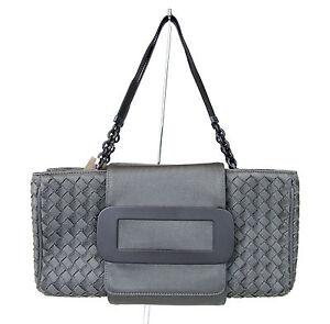 b74ff0eb397 Image is loading New-Authentic-BOTTEGA-VENETA-Intrecciato-Tote-Handbag-Gray-