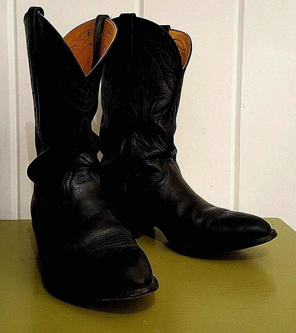 Men's Blk Tanned Leather NOCONA Rodeo Cowboy Western Style Boots Sz 9 US Made