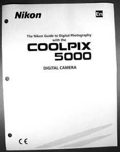 nikon coolpix 5000 digital camera user guide instruction manual ebay rh ebay com Nikon Coolpix S51 Accessories Nikon Coolpix S51 Accessories