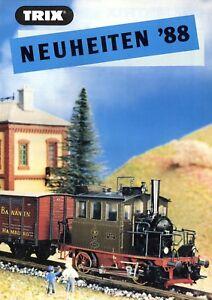 Trix-Minitrix-Neuheiten-1988-Prospekt-Modellbahnprospekt-brochure-model-railway