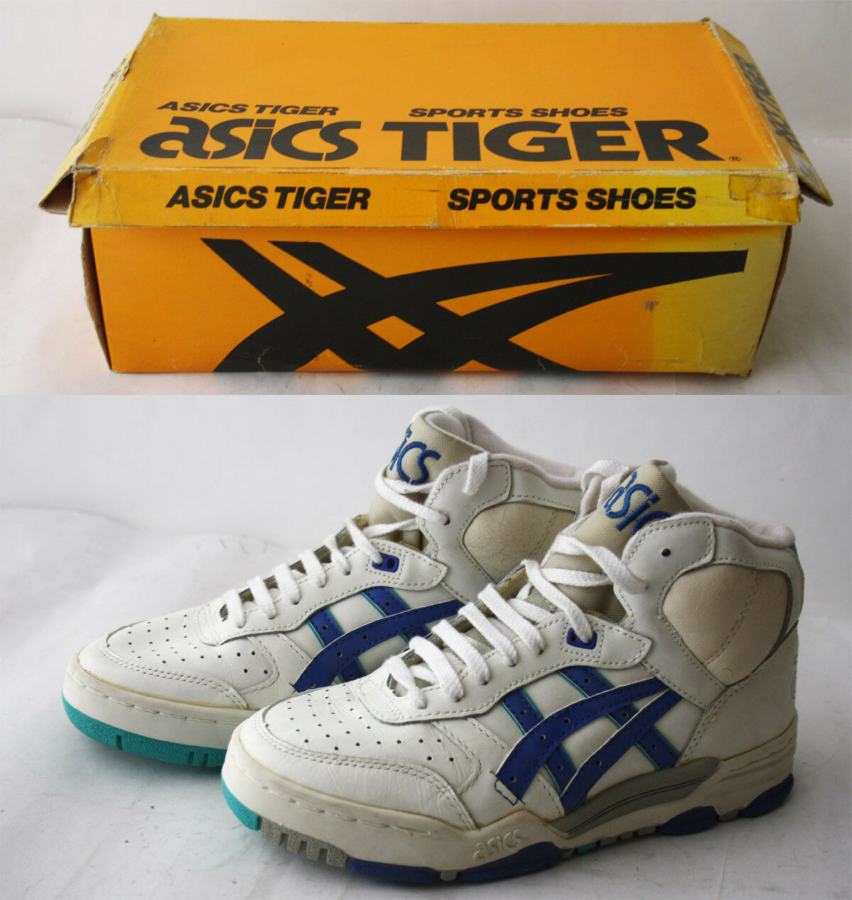 RARE VINTAGE 80'S ASICS TIGER SPORTS Schuhe HIGH TOP EUR 38-39 US 5.5 NEW NOS