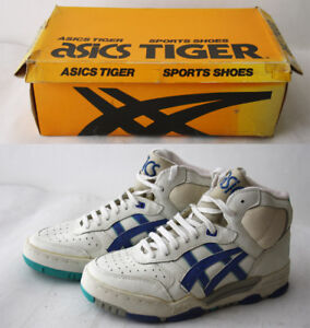 3bfd5bc95668 RARE VINTAGE 80 S ASICS TIGER SPORTS SHOES HIGH TOP EUR 38-39 US 5.5 ...