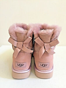 68916a2c7d9 Details about UGG CLASSIC MINI BAILEY BOW II METALLIC DUSK BOOT US 6 / EU  37 / UK 4 NIB